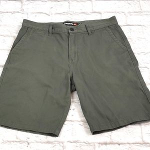 Quiksilver men's Olive Green shorts size 33